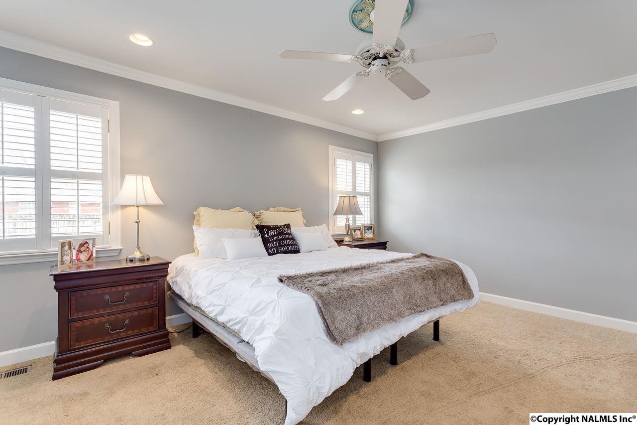 Master bedroom at 1715 Ballard Drive, Huntsville, AL 35801 in Blossomwood.