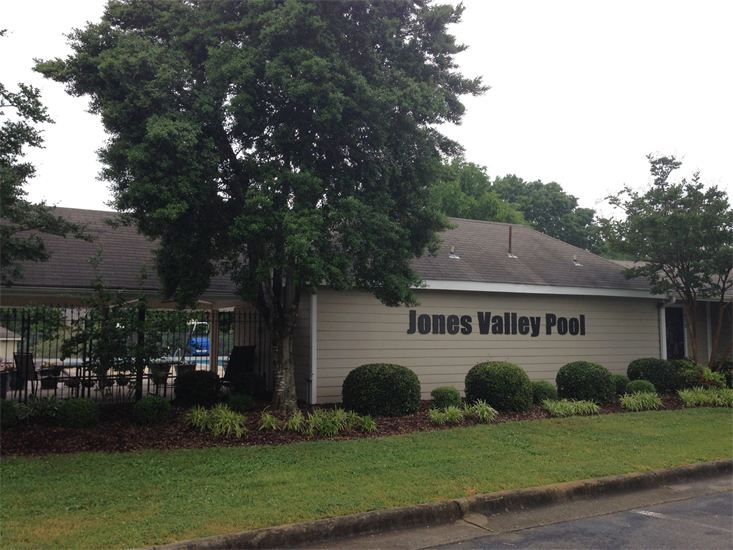 Jones Valley Pool, in Huntsville, Alabama's lovely Jones Valley neighborhood.