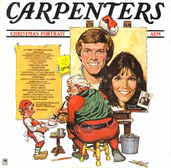 The cover of The Carpenters's Christmas Album, Christmas Portrait.