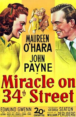 Image of original poster of Miracle on 34th Street